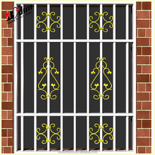 Arch style of decorative wrought iron window grill grills design