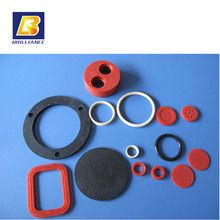 Custom made round flat silicon rubber gasket Colored Oil Resistance FPM different shapes sealing round flat rubber gasket