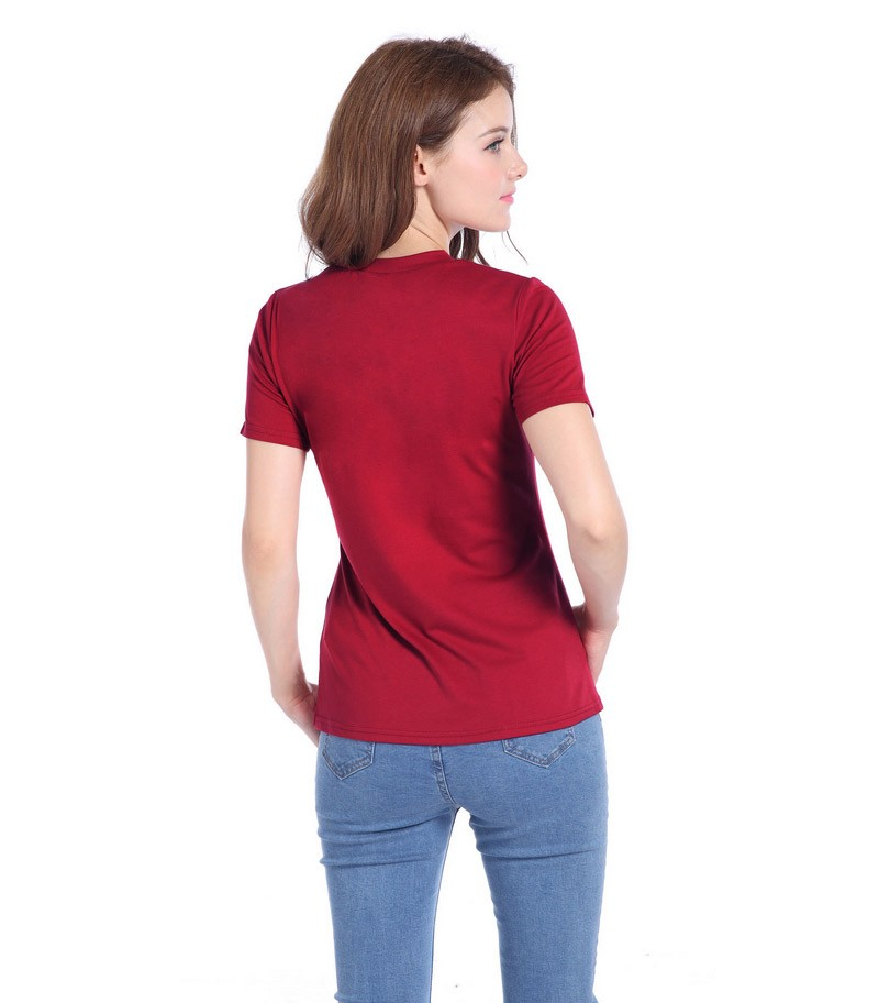 New Arrival Short Sleeve Ladies Hole Women T Shirt