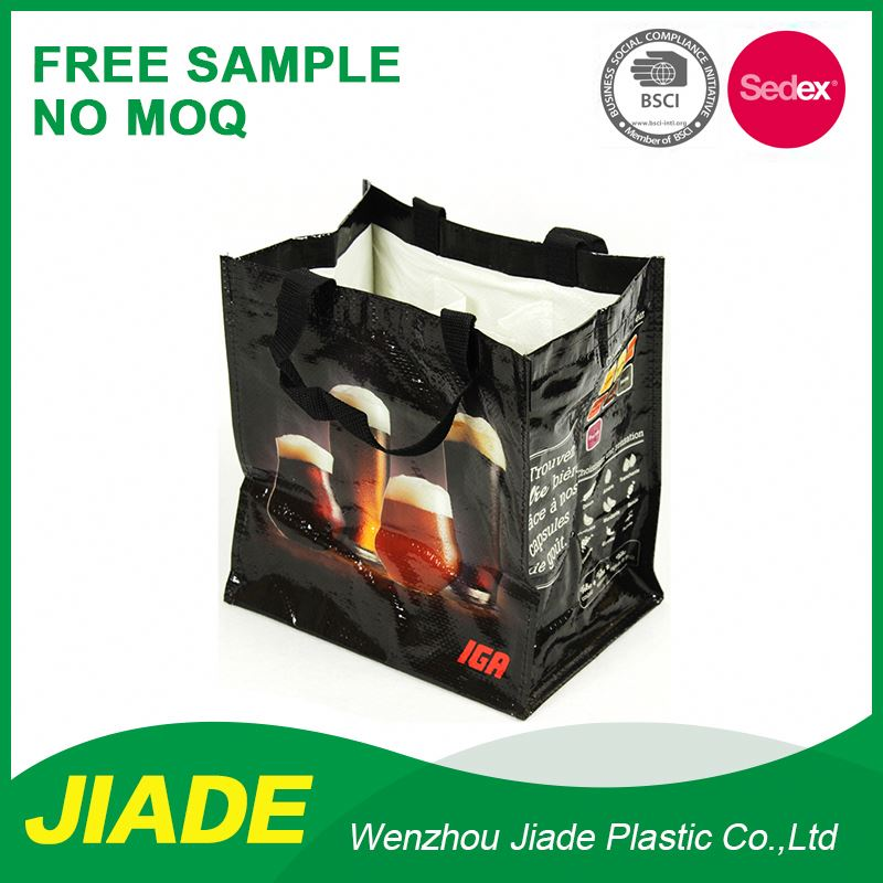 Factory Direct Sell Reinforced Handle Grocery Waterproof Wholesale Vinyl Tote Bag