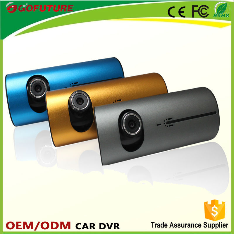 Avoiding car crush!Metal face dual cameras dashcam recording devices support GPS