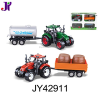 Best seller plastic friction farm car toy Tractor trailer truck