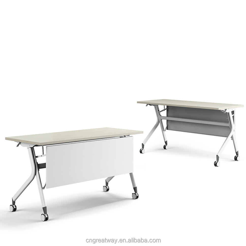 modern office folding study desks electrostatic spraying steel table leg suit for 1200*600 table top QM-16