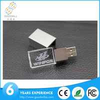 Bulk cheap oem transparent special crystal usb flash drive 2gb 4gb 8gb