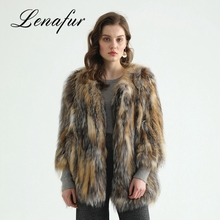 Fashion Styles High Quality Knitted Women Italian Fox Fur Coats