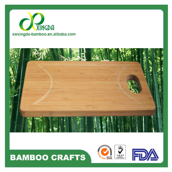 Non -toxic eco-friendly oil finished 1.8cm bamboo cutting board with FDA pass