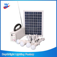 10W Home Solar Lighting System Portable With LED Bulb