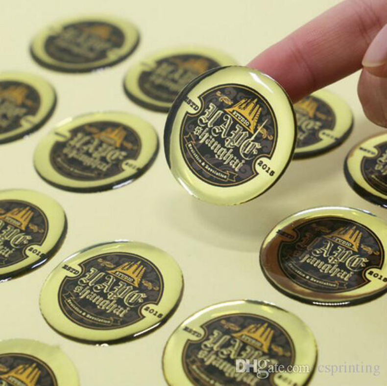 Custom high quality epoxy dome dust-free factory price 3d  sticker