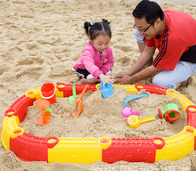 Beach Sand Play Set With Defensive Wall Building