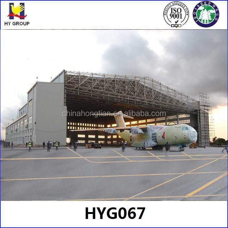 Boeing 747 prefabricated steel airplane and aircraft hangar