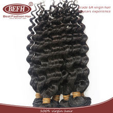 top quality human hair virgin deep wave hair extension, malaysia