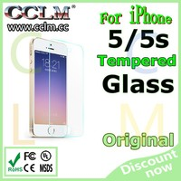 9h tempered glass screen protector for iphone 5,for iphone 5 tempered glass