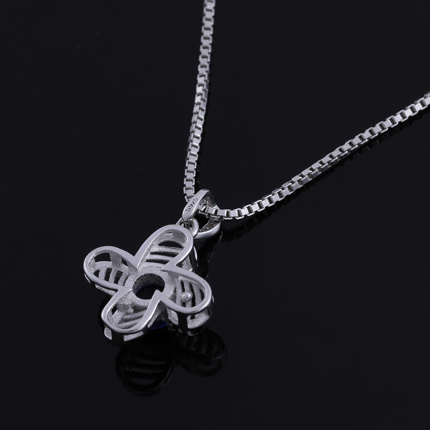 2018 Latest Fashion Charm Necklace Sterling Silver Crystal Diamond Jewelry Anniversary Chain