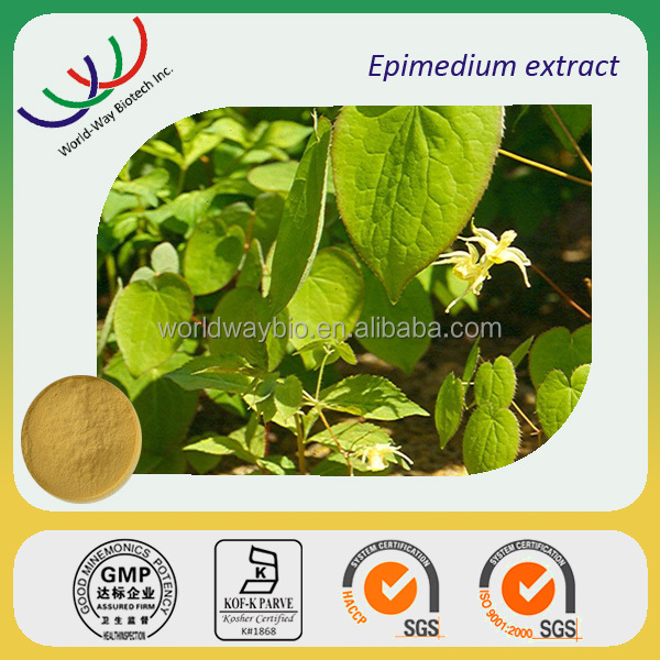 Free sample ! China natural herbal extraction HPLC icariin 1% to 98% sex power epimedium icariin
