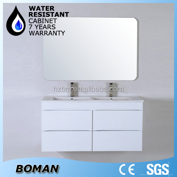 wall mounted double sink tona bathroom vanity