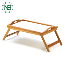 Multi-Position Adjustable cheap laptop bamboo bed tray with leg