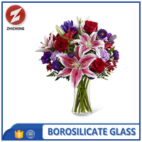 frosted explosion proof clear glass flower vase