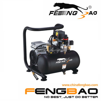 FB550-10G9 fengbao new model, 3/4hp silent portable air compressor with steel or aluminum tank