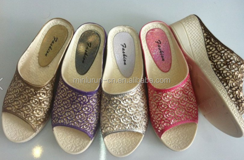 PVC ladies slipper design <strong>mold</strong> for plastic injection shoe making