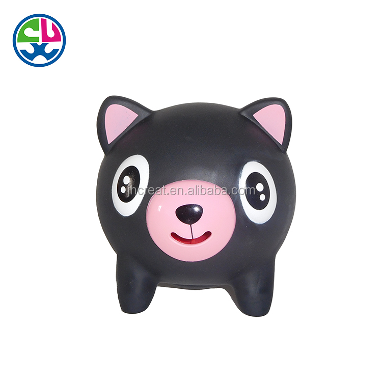 2017 New arrival PVC squeeze pig cheap plush christmas toy for kids