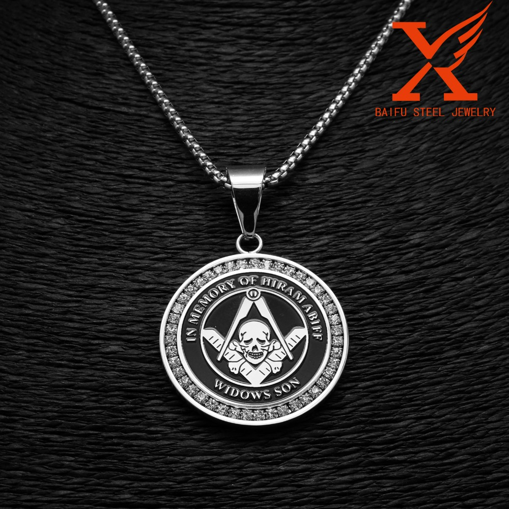 Stainless Steel Jewelry Manufacturers Professional Chunky Custom Large Rhinestone Masonic Logo Pendants and <strong>Charms</strong>