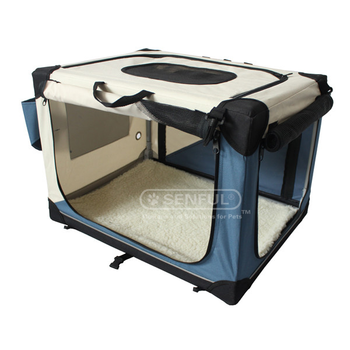 Fleece Bedding Foldable Portable Soft Pet Crate Training Kennel