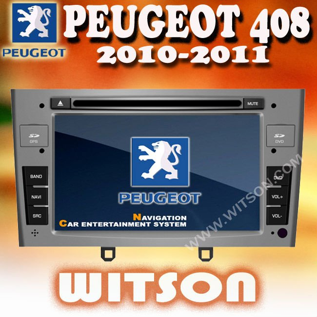 WITSON PEUGEOT 408 DVD CAR STEREO with USB port and iPod ready