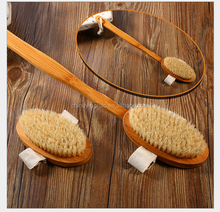 Hotselling Wooden Bath Body Brush for Back Scrubber - Natural Bristles Shower Brush with Long Handle - Excellent