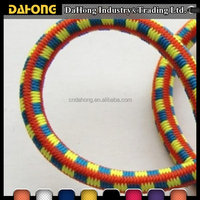 3mm decorative polyester sports braided elastic rubber cord