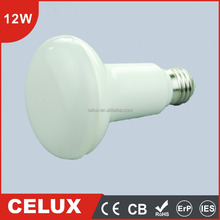 2016 CE CB ROHS 12W E14/E27 Plastic R80 LED Lamp Light Bulb 110V/220V