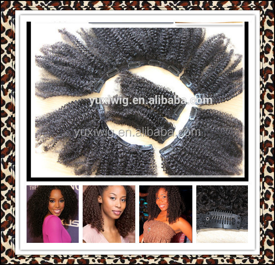On stock 2016 Halloween gift prepared beauty hair: easy clips hair extension/braiding afro puff kinky twist