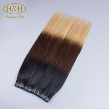 Top quality skin and hair analyzer hair skin nail vitamins 3 color pu brazilian human hair extensions