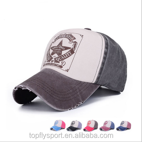 2016 OEM Logo Printed Promotional 5 Panel Custom Baseball Cap