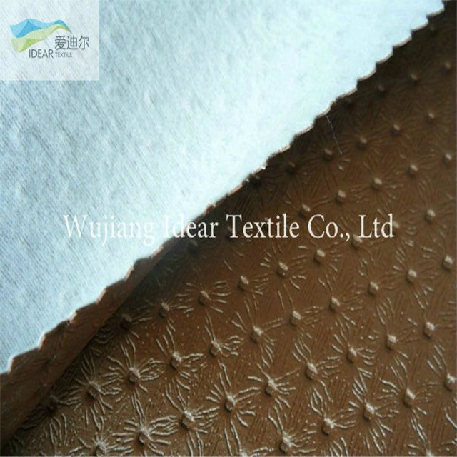 Brown Embossed PU Leather/Upholstery Fabric/Faux PU Leather Fabric