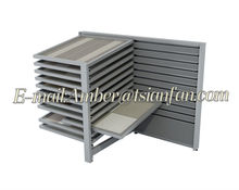 Tsianfan CX133 | New Product for 2014 Horizon Sliding Panel Marble Slab Display Rack
