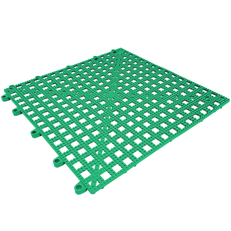 Eco friendly modular hidden interlocking recycled plastic kitchen floor mat