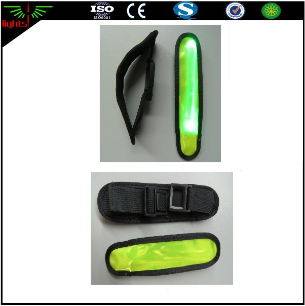 reflective led fluorescent yellow pvc safety armband