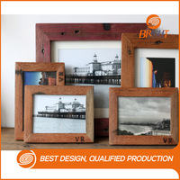 Rustic Reclaimed Dark Oak Color Wood Photo Picture Poster Frame