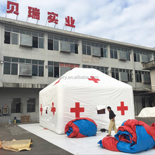 pvc tarpaulin durable waterproof white medical inflatable hospital tent for emergency
