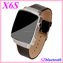 "GSM quad band HD camera 1.54"" IPS capacitive touch screen bluetooth smart wrist watch mobile phone X6S support TF MP3 MP4"