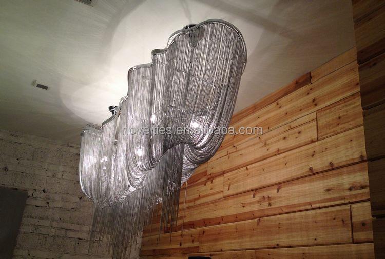 Designer 3d Chrome-plated Metal Atlantis Long Suspension Light ...
