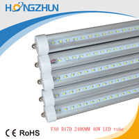 Standard USA FA8 Single Pin 8FT 8 feet T8 Led Light Tubes 216LEDs 2835 SMD Led Fluorescent Tube Light 40W FA8 led tube
