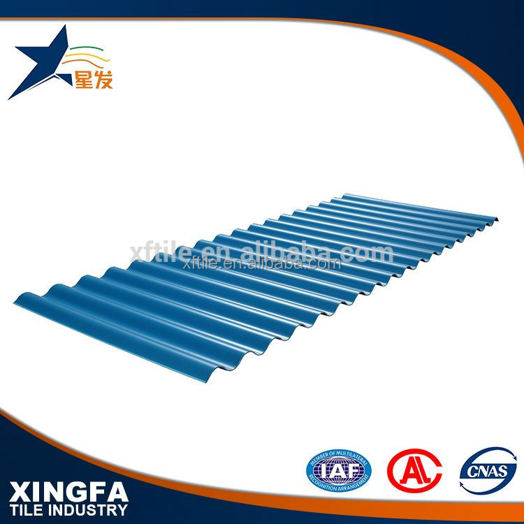 Green and environment friendly corrugated steel sheet container asa pvc roof tile