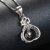 Fancy Design Sterling Silver Pendant Christian Necklace