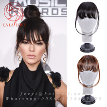 Clip in bangs human hair Soft Thin Air Bangs Fringes human hair Hairpieces Clip-in Hair Extension on Front Neat Bang For Women