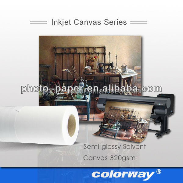 Polyester art fabric canvas for eco solvent printer