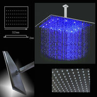 High Quality 2mm Ultra Thin LED fixed shower head