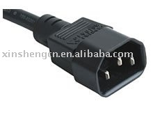 IEC C14 power cord VDE /UL SAA approved