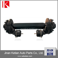 trailer axle with disc brakes