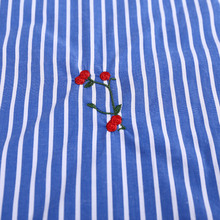 10 years experience famous brand garment stripe embroidery cotton fabric